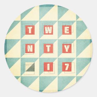 Twenty 17 round sticker