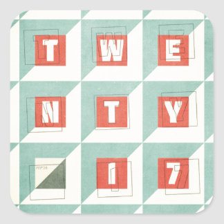 Twenty 17 square sticker