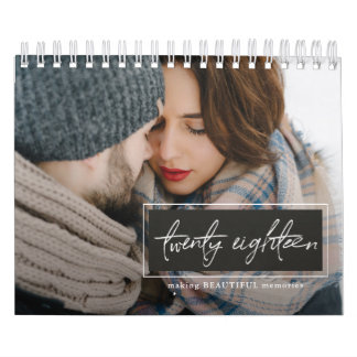 Twenty Eighteen Script Photo Calendar