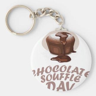 Twenty-eighth February - Chocolate Soufflé Day Basic Round Button Keychain