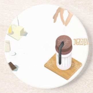 Twenty-eighth February - Chocolate Souffle Day Coaster