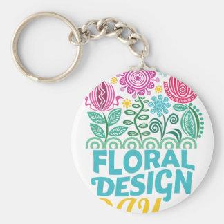 Twenty-eighth February - Floral Design Day Basic Round Button Keychain