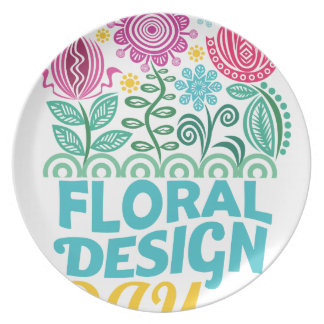 Twenty-eighth February - Floral Design Day Party Plates