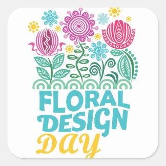 Twenty-eighth February - Floral Design Day Square Sticker