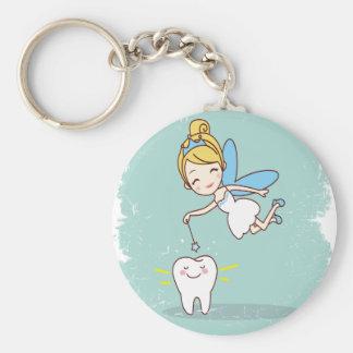 Twenty-eighth February - Tooth Fairy Day Basic Round Button Keychain