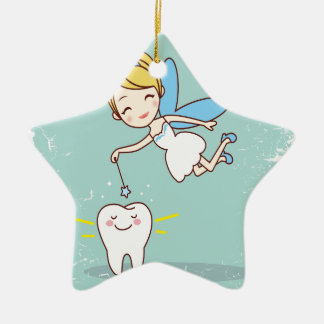 Twenty-eighth February - Tooth Fairy Day Ceramic Ornament
