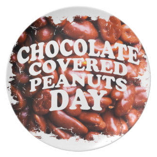 Twenty-fifth Februar Chocolate-Covered Peanuts Day Plate