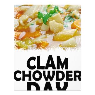 Twenty-fifth February - Clam Chowder Day Customized Letterhead
