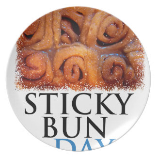 Twenty-first February - Sticky Bun Day Party Plate