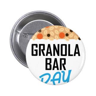 Twenty-first January - Granola Bar Day 2 Inch Round Button