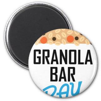 Twenty-first January - Granola Bar Day 2 Inch Round Magnet