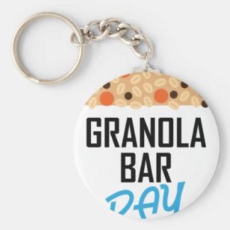 Twenty-first January - Granola Bar Day Basic Round Button Keychain