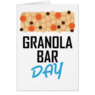 Twenty-first January - Granola Bar Day Card