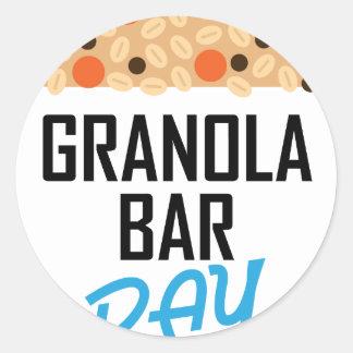 Twenty-first January - Granola Bar Day Classic Round Sticker