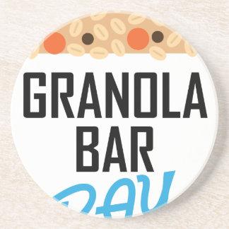 Twenty-first January - Granola Bar Day Coaster
