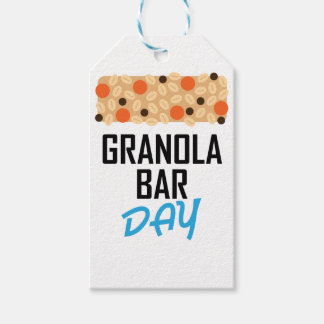 Twenty-first January - Granola Bar Day Gift Tags