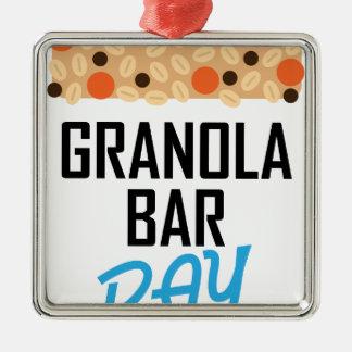 Twenty-first January - Granola Bar Day Metal Ornament