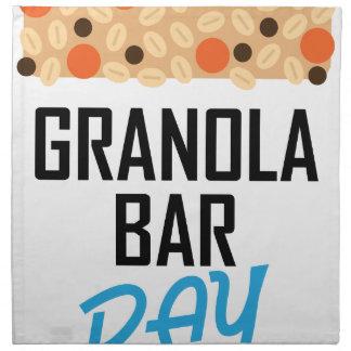 Twenty-first January - Granola Bar Day Napkin