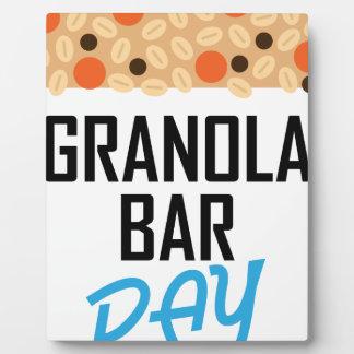 Twenty-first January - Granola Bar Day Plaque