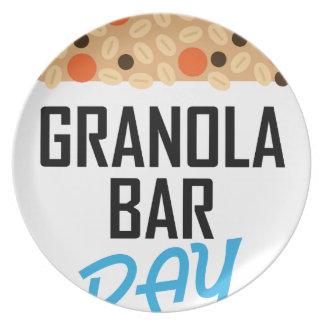 Twenty-first January - Granola Bar Day Plates