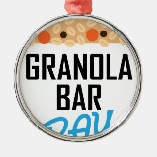 Twenty-first January - Granola Bar Day Silver-Colored Round Ornament