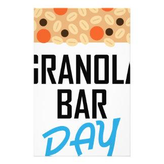 Twenty-first January - Granola Bar Day Stationery Design