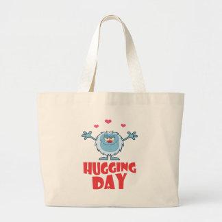 Twenty-first January - Hugging Day Large Tote Bag