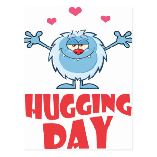 Twenty-first January - Hugging Day Postcard