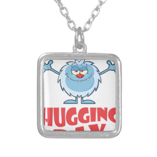 Twenty-first January - Hugging Day Silver Plated Necklace