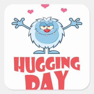 Twenty-first January - Hugging Day Square Sticker