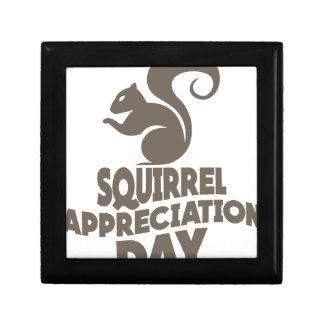 Twenty-first January - Squirrel Appreciation Day Gift Box