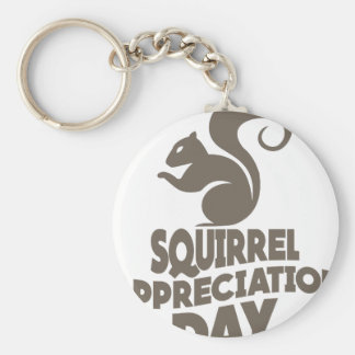 Twenty-first January - Squirrel Appreciation Day Keychain
