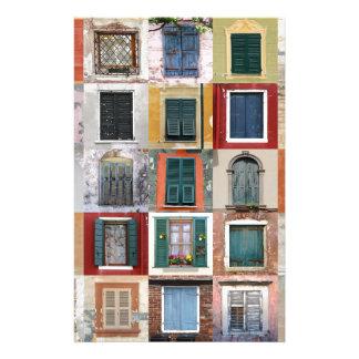 Twenty Five Windows Stationery Design