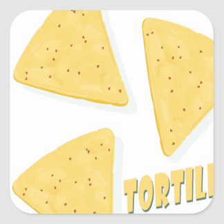 Twenty-fourth February - Tortilla Chip Day Square Sticker