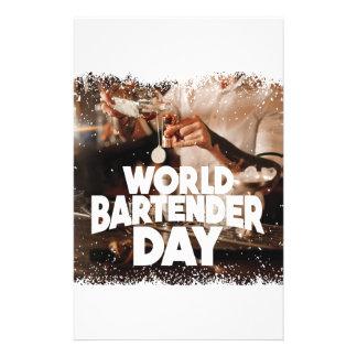 Twenty-fourth February - World Bartender Day Stationery