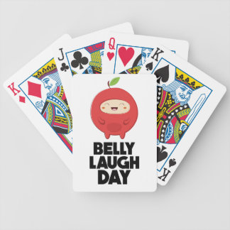 Twenty-fourth January - Belly Laugh Day Bicycle Playing Cards
