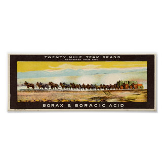 Twenty Mule Team Borax Poster