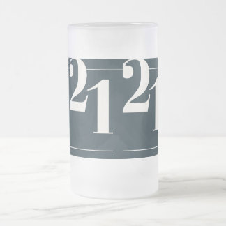 twenty one frosted glass beer mug