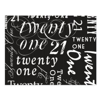 Twenty One Postcard