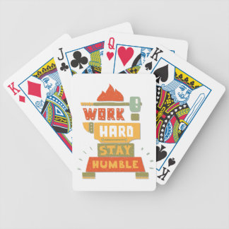 Twenty-second February - Be Humble Day Bicycle Playing Cards