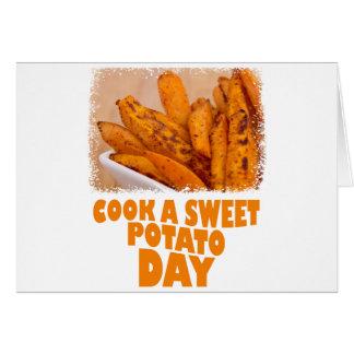 Twenty-second February - Cook a Sweet Potato Day Card