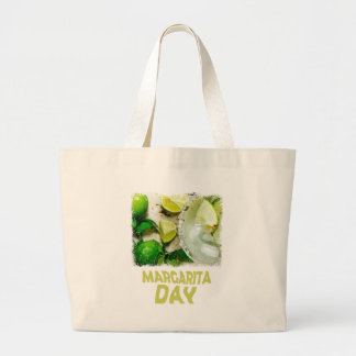 Twenty-second February - Margarita Day Large Tote Bag