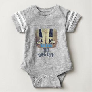 Twenty-second February - Walking the Dog Day Baby Bodysuit