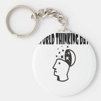 Twenty-second February - World Thinking Day Basic Round Button Keychain