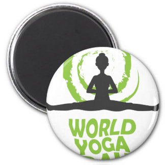 Twenty-second February - World Yoga Day 2 Inch Round Magnet