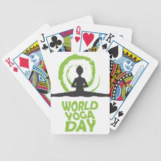 Twenty-second February - World Yoga Day Bicycle Playing Cards