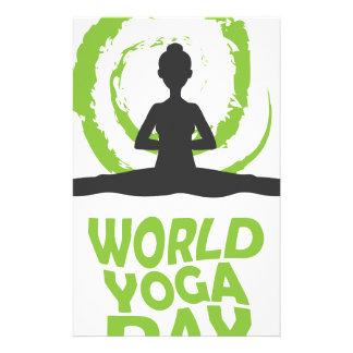 Twenty-second February - World Yoga Day Stationery