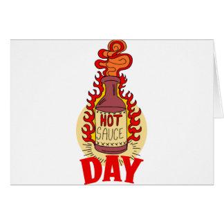 Twenty-second January - Hot Sauce Day Card