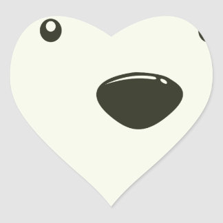 Twenty-seventh February - Polar Bear Day Heart Sticker