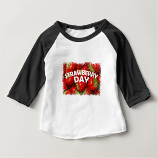 Twenty-seventh February - Strawberry Day Baby T-Shirt